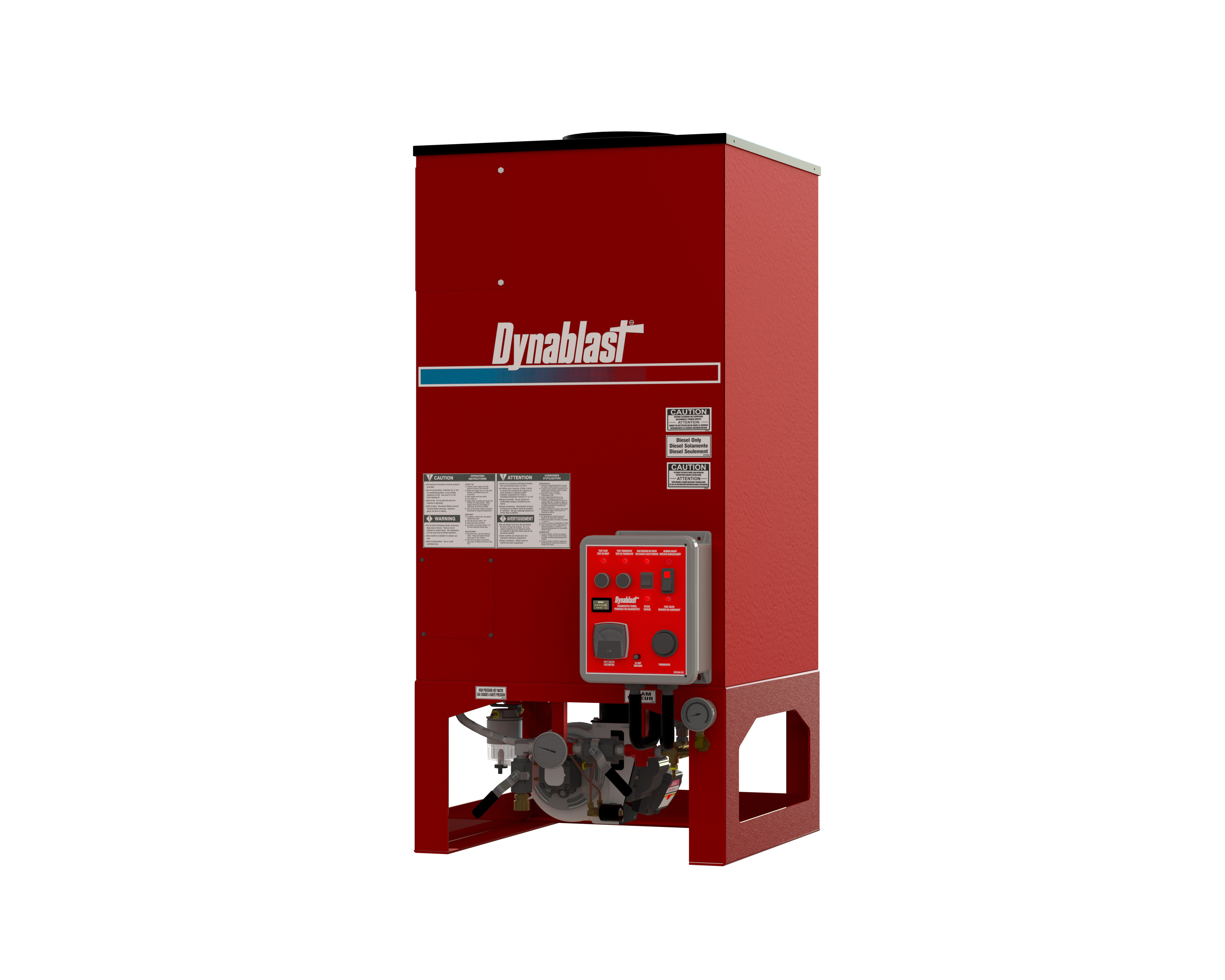 Dynablast HV690F-12V Hydrovac Hot Water and Steam Heater